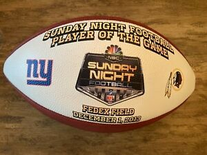 """NBC SNF WILSON NFL FOOTBALL OFFICIAL SIZE """"THE DUKE"""" FAN COLLECTIBLE BALL"""