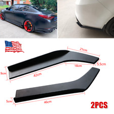 2PCS Car Rear Lip Wrap Angle Splitters Bumper Spoiler Anti-crash Trims Universal