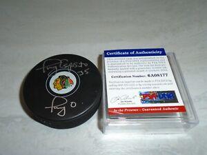 Tony Esposito Signed Chicago Blackhawks Hockey Puck Autographed PSA/DNA COA 1A