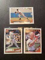 (3) CAL RIPKEN JR Bill & Cal sr Cards Baltimore Orioles Topps Lot 1988-1993