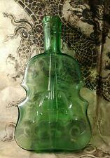 Large Vintage Vintage Hand Blown Lime Green Violin Bottle