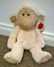 "Keel Toys Flopsy Friends Lamb Plush 10"" Sheep Farm 2013 Cream Beige 25cm Seated"