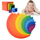 TOP! Wooden Rainbow Stacker Building Blocks Puzzle Blocks Educational Toys GIFT