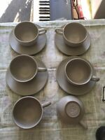 Vintage Heath Ceramics Set Of 10 - 6 cups and 4 saucers  Mid-Century Modern