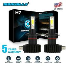 IRONWALLS H7 LED Headlight Kit 2200W 330000LM HI/LO Beam Bulb 6000K Lamp White