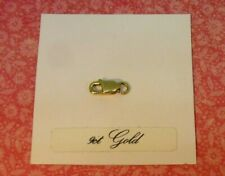 """Small VINTAGE 9ct GOLD  """"LOBSTER CLAW CLASP"""" for chain - GOOD USED CONDITION"""