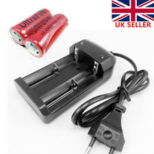 2x 26650 Rechargeable Li-ion Battery 6000mAh for Flashlight Torch+Charger UK
