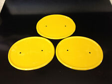 Honda Z50R Z50 Z50RD MR50 XR75 yellow Number Plate Number Board (x3)