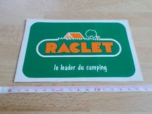 Sticker Vintage Raclet - The Leader of / The Camping