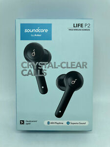 New Soundcore by Anker Life P2 Total Wireless Earbuds Crystal Clear Calls Black