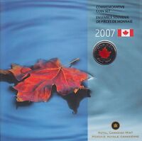 2007 Oh! Canada Coin Set with Limited Edition Colourized Quarter