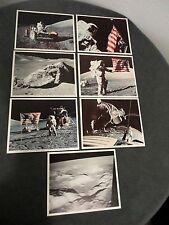 LOT OF 7 1973 NASA APOLLO 17 PRINTS MSCL # 96,98, 99,100,101,102 & 104