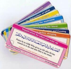 18 Islamic Prayer Dua Wall Door Stickers Daily Use Sunnah Muslim Gift, Eid Gift