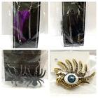 Spider Earrings Eye Ring Rhinestone 4 Halloween Costume Jewelry Gothic Steampunk