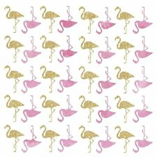 FLAMINGOS 40 BiG Wall Decals Pink Gold Birds Room Decor Stickers Glittery NEW