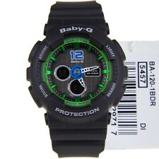 CASIO BABY-G LADIES WATCH BA-120-1B FREE EXPRESS BLACK x GREEN BA-120-1BDR
