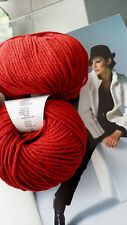 750 g ALBERTA Merino Extrafine + Kaschmir WOLLE Rot Winterrot LUXUS Lang Yarns