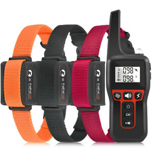 1000m Dog Pet Electric Shock Training Collar Waterproof LCD Rechargeable Remote