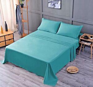 Bamboo Bed Sheet Set   Flat Sheet +  Fitted Sheet + 2 Pillowcases