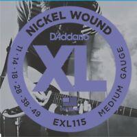 3 Sets of D'Addario EXL115-3D Blues Jazz / Rock Electric Guitar Strings 11 - 49
