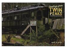 TWIN PEAKS GOLD BOX POSTCARD #10 ABANDONED TRAIN CAR POST CARD