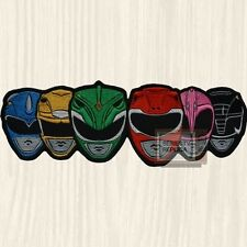 Power Rangers Mighty Morphin Masks TV Series Embroidered Big Patch Green Black