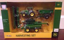 New 1/64 John Deere harvest set w/ S680 combine, 8360R tractor & grain cart %