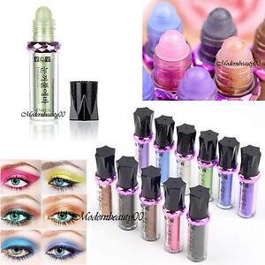 1 Roller Glitter Pigment Loose Powder Shimmer Eyeshadow Single Eye Shadow Makeup
