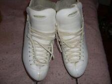 Reidell White Ice Skates with John Wilson Jubilee Blades