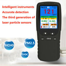 PM2.5/PM1.0/PM10/HCHO/TVOC Particle Test Air Quality Detector Monitor