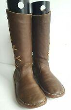 El Naturalista Mid Calf High Zip Brown Boots UK 3, EU 36