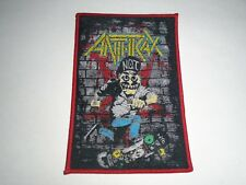 ANTHRAX THRASH METAL WOVEN PATCH