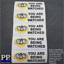 5 x You Are Being Watched Stickers-CCTV,Car,Security,Office,Work,Taxi Signs-80mm