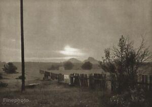 1954 Vintage JOSEF SUDEK Czech Sunset JESTREBI Landscape Laundry Photo Art 11X14