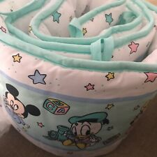 Vintage Dundee Disney Babies Crib Bumper Pad bedding Mickey Minnie Mouse