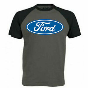 Mens Ford T Shirt Licensed  Blue Logo Sign Vintage Old Retro Classic Car