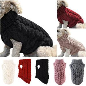 kuscheliger Hundepullover Winter warmer Mantel Strickwolle gestreift Winterweste