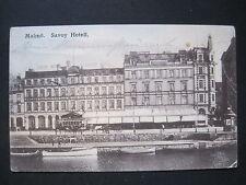 AK Malmö Savoy Hotell gelaufen 1913 (P 082)