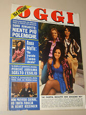 OGGI 1974/15=DE GRADA SPINELLI TRECCANI PITTORI=CASTELLETTO D'ORBA=LANCIA BETA=