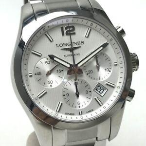 UNUSED LONGINES Conquest Classic Wristwatch Silver SS L27864766