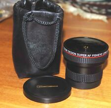 FISHEYE Lens Super AF by Precision Design with adaptr to fit 55/58mm filter ring
