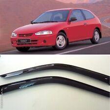 For Mitsubishi Colt 3d 1995-2002 Window Visors Sun Rain Guard Vent Deflectors