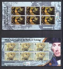 Gibraltar 2005 gestempelt Kleinbogen Satz MNr. 1117-1120 Seeschlacht v Trafalgar