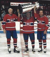 GUY LAFLEUR JEAN BELIVEAU MAURICE RICHARD 8X10 PHOTO MONTREAL CANADIENS PICTURE