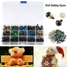 Traditional Teddy Bear Doll Animal Red /& Pink Crystal Eyes with METAL BACKS
