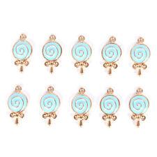 10Pcs/Lot Enamel Alloy Lollipop Candy Charms Metal Pendants DIY Jewelry Find FT