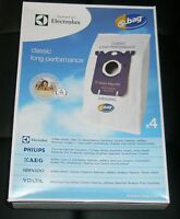 8 x ELECTROLUX GENUINE LONG PERFORMANCE S-BAG VACUUM BAGS PART E201B S BAG