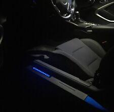 Blue Illuminated Door Sills for Camaro 2011+ Black finish Blue Lighted Emblem