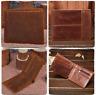 RFID Blocking Durable Mens Bifold Wallet Genuine Cowhide Leather Handmade