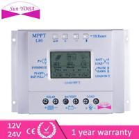 LCD 80A 12V/24V Solar Controller Regulator Charge Battery MPPT Protection US GA